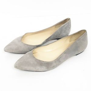TALBOTS Gray Suede Pointed Toe Flats size 9.5